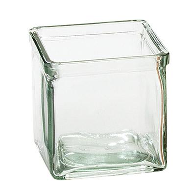 Cal-Mil C4X4GLCN Recycled Glass Jar, 4 x 4 x 4-in