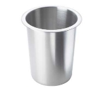 Cal-Mil 1017-SOLID 4.5-in Round Solid Cutlery Cylinder, Stainless