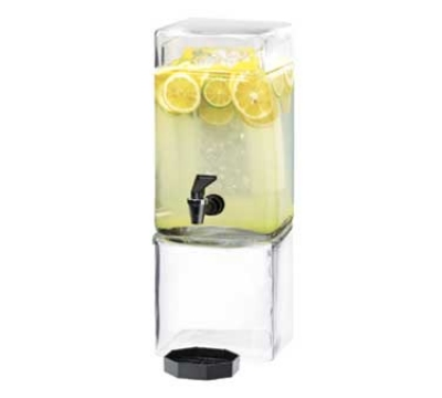 Cal-Mil 1112-1 1.5-Gallon Square Glass Beverage Dispenser