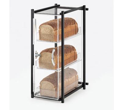 Cal-Mil 1155-13 3-Tier Bread Case - Black