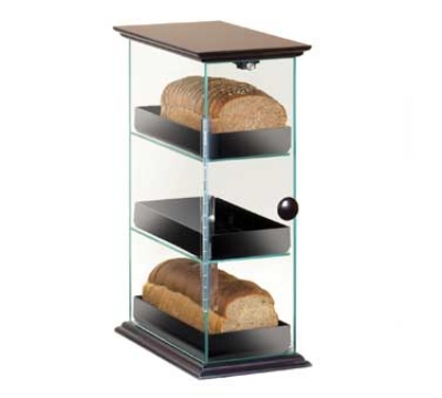 Cal-Mil 1204-52 3-Bin Bread Box w/ Black Trays & Base, 8 x 14 x 21-in High
