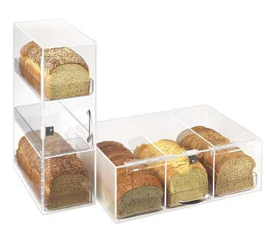 Cal-Mil 1204 Bread Box w/ 3-Bins & Frosted Top, 7 x 12 x 20-in High