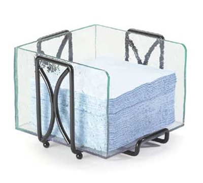 Cal-Mil 1242 Square Wire Napkin Holder w/ Removable Faux Glass Insert