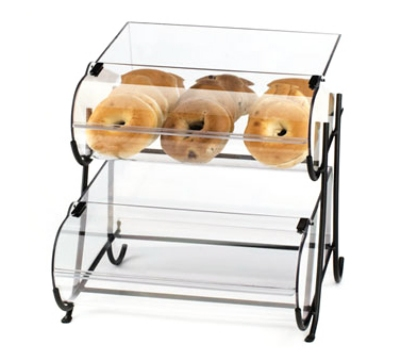 Cal-Mil 1280-2 2-Tier Display Stand w/ (2) 10 x 14-in Round Nose Bin & Wire Frame