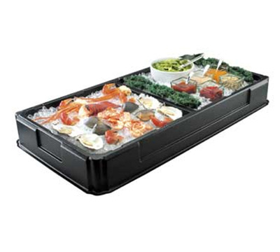 Cal-Mil 1285 Icer w/ Dual Insulated Bins, 48 x 25.5 x 6-in High, ABS