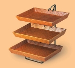 Cal-Mil 1290-3 3-Tier Display & Server Stand w/ (3) 17.5 x 12-in Bamboo Trays