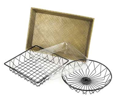 Cal-Mil 1292TRAY 12-in Round Wire Basket For 1292 Tray Rack