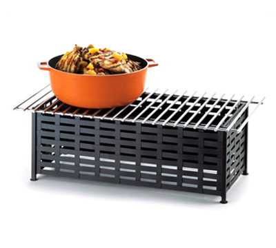 Cal-Mil 1361-22 Lattice Style Chafer Alternative, 22 x 12 x 7.5-in H, Black