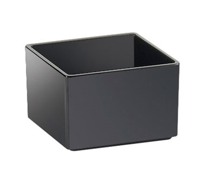 "Cal-Mil 1395-13M Cater Choice Box - 5x5x3"", Melamine, Black"