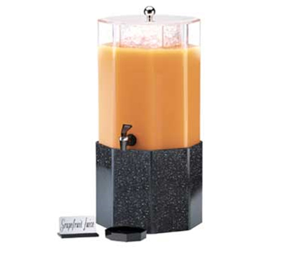 Cal-Mil 153-2-16 2-Gallon Octagon Beverage Dispenser w/ Removable Gray Base