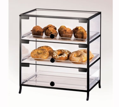 Cal-Mil 1735-1318 3-Door Elite Display Case w/ (3) 13 x 18-in Trays & Acrylic Body
