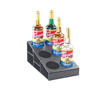 Cal-Mil 2056 3-Tier Classic Condiment Bottle Organizer - Black