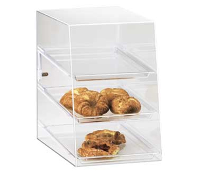 Cal-Mil 241 Countertop Display Case w/ (3) 13 x 18-in Trays & Rear Door, Clear