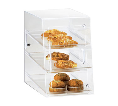 Cal-Mil 241-S Countertop Display Case w/ 3-Trays & Self Serve Front Door, Clear