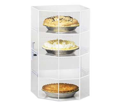 Cal-Mil 252 Countertop Display Case w/ Hex Front & (3) 12 x 12-in Shelves