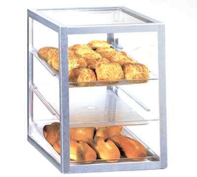 Cal-Mil 268 Countertop Display Case w/ (3) 13 x 18-in Trays, Attendant Serve