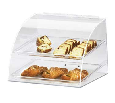 Cal-Mil 289 Countertop Display Case w/ Euro Front & (2) 10 x 14-in Tray, Clear