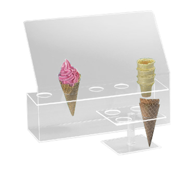 Cal-Mil 297 5-Hole Cone Holder w/ Guard, 2-in Diameter Hole Size, Clear