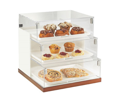 Cal-Mil 3020-51 3-Tier Luxe Step Display Case - White, Copper