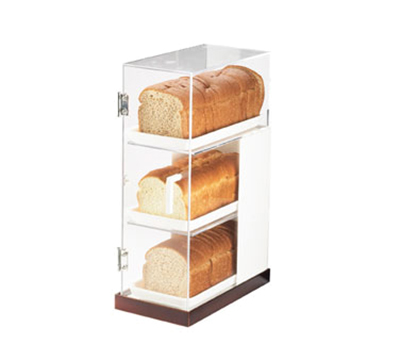 Cal-Mil 3021-51 3-Tier Luxe Bread Display Case - Clear, Copper