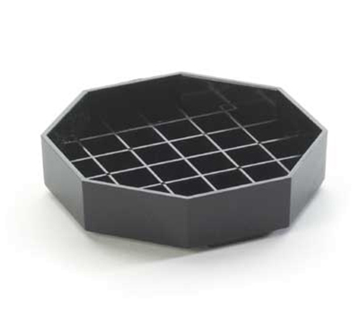 Cal-Mil 308-6-13 6-in Octagon Standard Drip Tray, Black