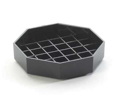 Cal-Mil 308-6-13 6-in Octagon Standard Drip Tray, Black