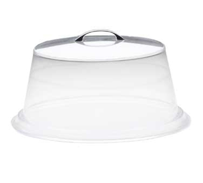 Cal-Mil 312-12 12-in Round Colonial Cover w/ Flat Top, Clear Acrylic