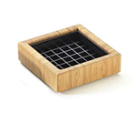 Cal-Mil 330-4-60 4-in Square Spigot Drip Tray w/ Removable Inner Tray, Bamboo