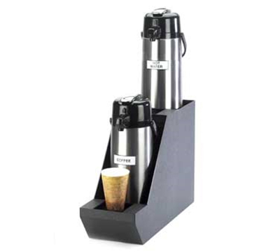 Cal-Mil 360-2 Black In Line Dual Airpot Stand For 2.5-Liter Pots