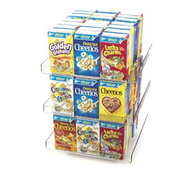 Cal-Mil 372 3-Tier Countertop Cereal Organizer w/ Turntable,