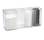 Cal-Mil 376-12 Lid Organizer w/ (3) 4-in & (1) 5-in Sections, Clear
