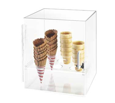 Cal-Mil 386 9-Hole Cone Cabinet w/ 2-in Diameter Hole Size, Clear