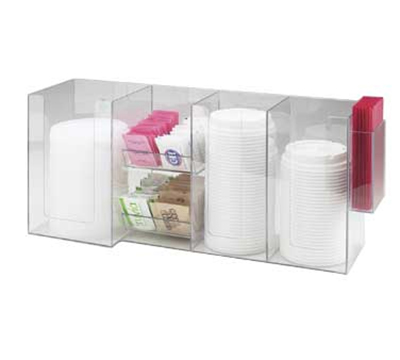 Cal-Mil 387-12 Napkin & Lid Dispenser For 4-in Lids & 5-in Napkins, Clear