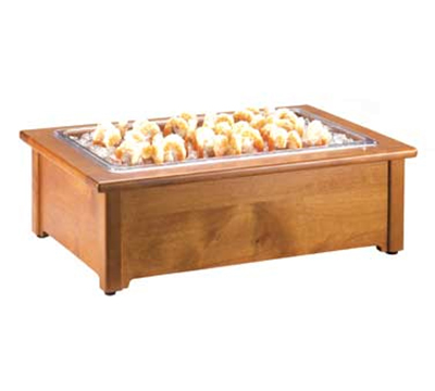 Cal-Mil 412-12-53 Ice Housing w/ Pan, 12 x 20-in, Light Wood