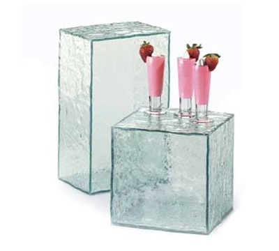 Cal-Mil 432-8-43 Fully Enclosed Faux Glass Riser, 8 x 8 x 8-in