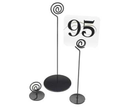 Cal-Mil 661-9-13 9-in High Number Stand, Black Powder Coated Wire