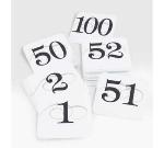 Cal-Mil 671-1 Number Cards For Wire Stands, 1 Through 50