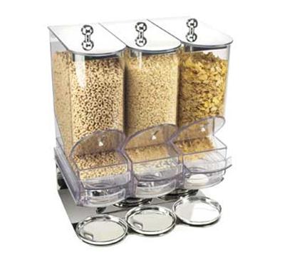 Cal-Mil 718 3-Bin Portion Control Cereal Organizer w/ 600-cu in Capacity Per Bin
