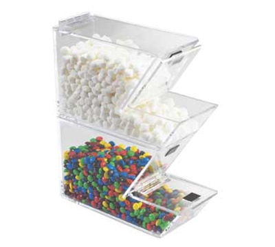 Cal-Mil 927 Stackable Yogurt Topping Dispenser w/ Magnetic Lid, 4 x 11 x 7-in H
