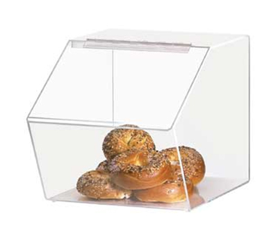 Cal-Mil 943 Clear Acrylic Food Bin w/ Slant Front, 12.5 x 16 x 12.5-in High