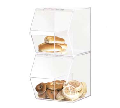 Cal-Mil 948 Stackable Food Bin w/ Removable Divider, 11 x 14 x 12-in H, Clear