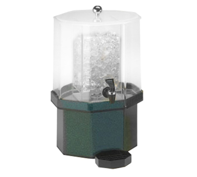 Cal-Mil 972-1-17 1.5-Gallon Octagon Beverage Dispenser w/ Ice Chamber, Charcoal Base
