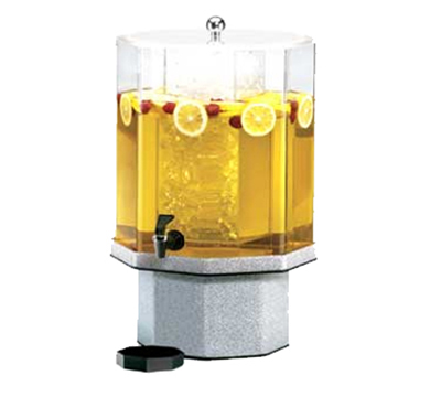 Cal-Mil 972-5-17 5-Gallon Octagon Beverage Dispenser w/ Ice Cham