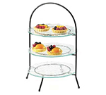 Cal-Mil 977-8-49 3-Tier Display Or Server w/ Arched Chrome Frame, 18-in High