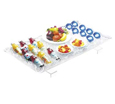 Cal-Mil 986-12 Ice Display Tray w/ Brackets & Drain Kit, 40 x 22 x 3-in High