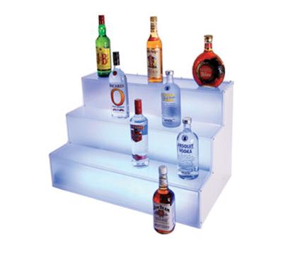Cal-Mil LQ31 3-Tier Liquor Display - Frost