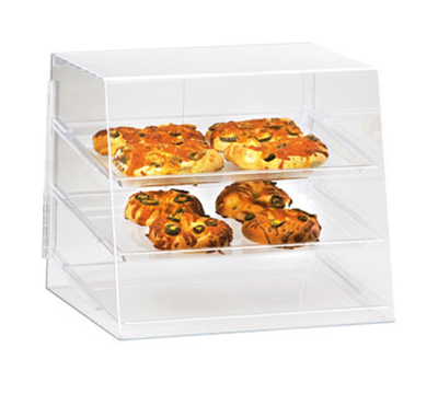 Cal-Mil P241 Countertop Display Case w/ 2-Rear Door & 3-Tray, 19 x 14 x 16-in H