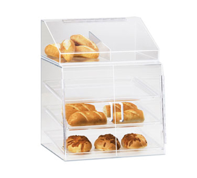 Cal-Mil P241SS Countertop Display Case w/ 2-Self Serve Doors & 3-Trays, Clear