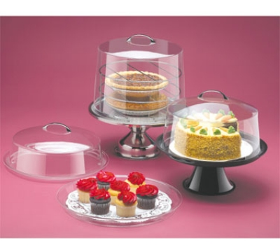 Cal-Mil P302 12-in Round Clear Acrylic Cake Cover, 6-in High