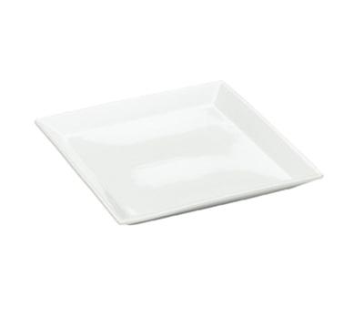 """Cal-Mil PP252 11"""" Square Platter - Porcelain, Bright White"""